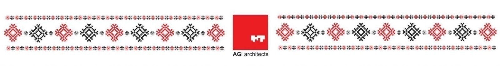 AGi Architects greeting card with traditional pattern